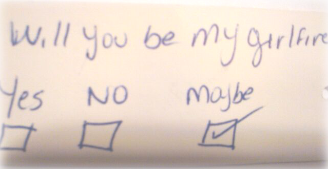 SAVANNAH: Will you be my girlfriend note
